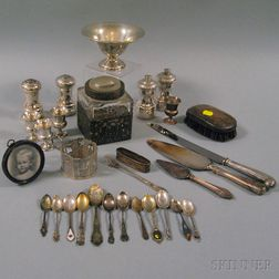 Group of Sterling Silver and Silver-mounted Items