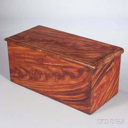Grain-painted Six-board Chest