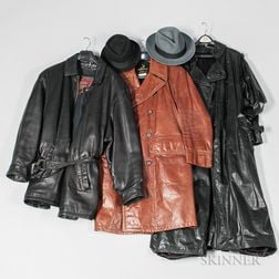 Three Leather Trench Coats