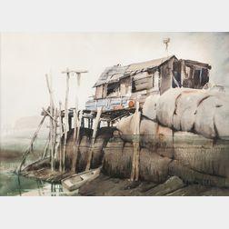 Harry Senger (American, b. 1931)      Fisherman's Roost