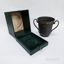 Boxed Royal Doulton Charles Dickens Black Basalt Centenary Loving Cup