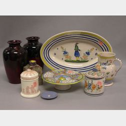 Nine Pieces of Assorted European Pottery
