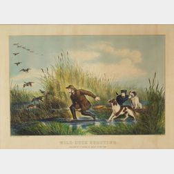 Nathaniel Currier, publisher (American, 1813-1888)    Wild Duck Shooting.