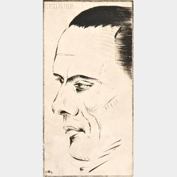 Werner Drewes (American/German, 1899-1985)      Portrait of the Architect Leistikow