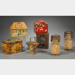 Seven Biscuit, Candy and Mustard Tins