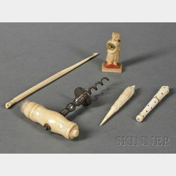 Five Bone and Marine Ivory Implements