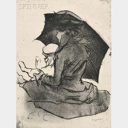 Jacques Villon (French, 1875-1963)      Croquis de plage, mère et enfant