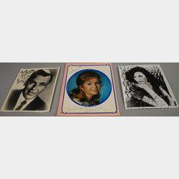 Four Entertainer Autographed Items