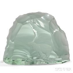 Kosta Boda Glass Polar Bear Sculpture