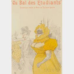 After Henri de Toulouse-Lautrec (French, 1864-1901)      Au Bal des Étudiants