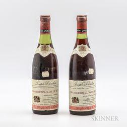 Joseph Drouhin Chambertin Clos de Beze 1972, 2 bottles