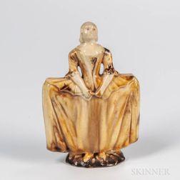 Staffordshire Creamware Figure of a Maiden