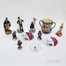 Eleven Modern Royal Doulton Items