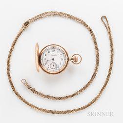 Waltham Watch Co. 14kt Gold Hunter-case Watch
