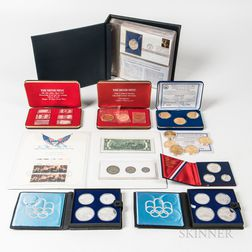 Group of Commemorative Medals and Coins