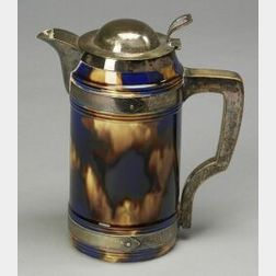 Wedgwood Majolica and Silver Plate Covered Jug