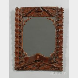 Blackf Forest Carved Military-themed Mirror
