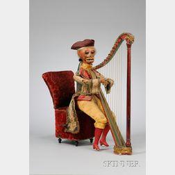Gustave Vichy Monkey Harpist Automaton