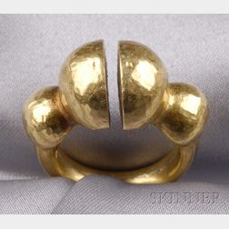 22kt Greek Gold Paleolithic Ring, Ilias Lalaounis