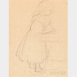 Maurice Denis (French, 1870-1943)    Filette, pour le portrait de famille Mellerio