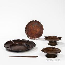 Five Pieces of Roycroft Copper Ware