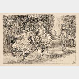 John French Sloan (American, 1871-1951)      The Donkey Ride