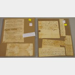 Seven 18th Century New England Handwritten and Printed Documents