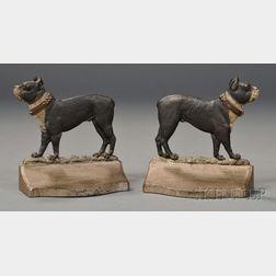 Pair of Bradley & Hubbard Cast Iron Bulldog Bookends