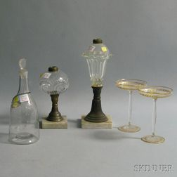 Five Colorless Glass Objects