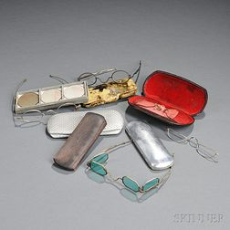 Collection of Spectacles and Cases