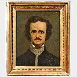 Poe, Edgar Allan (1809-1849) Unsigned Portrait.