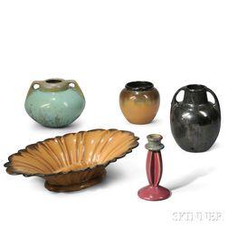 Five Fulper Pottery Items