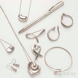 Group of Tiffany & Co. Sterling Silver Jewelry