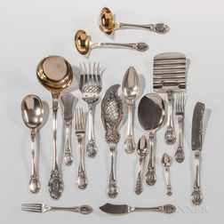 150 Pieces of German Silver Flatware