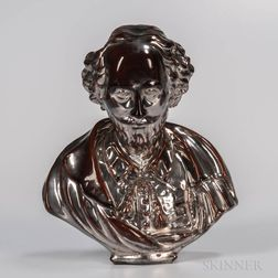 Staffordshire Silver Lustre Bust of Shakespeare