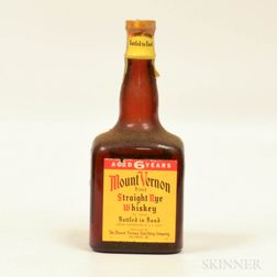 Mt Vernon Rye 6 Years Old 1947, 1 4/5 quart bottle