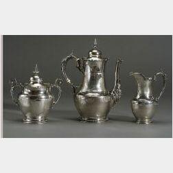 Gorham Coin Silver Three Piece Tea Service