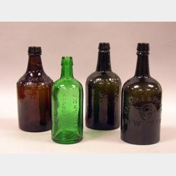 Four Mineral Water Bottles