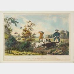 Nathaniel Currier, publisher (American, 1813-1888)    Quail Shooting.