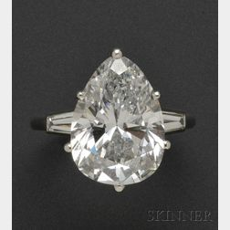 Platinum and Diamond Solitaire, Mounted by Cartier