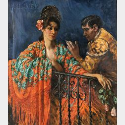 Lillian Mathilde Genth (American, 1876-1953)      La Novia del Torero (Bullfighter and Sweetheart)