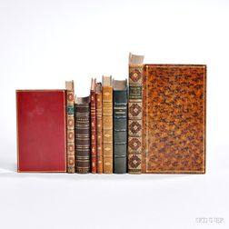 Erotica and Early Books, Seven Titles in Leather Bindings.