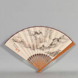 Bamboo Folding Fan,