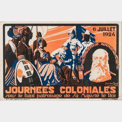 Journées Coloniales   - 6 Juillet 1924,   J. Van den Bergh
