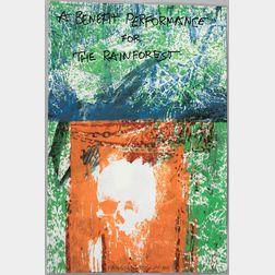 Robert Rauschenberg (American, 1925-2008)    A Benefit Performance for the Rainforest