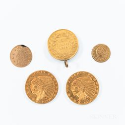 Four Gold Coins