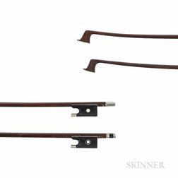 Two Nickel-mounted Violin Bows