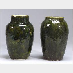 Two Dedham Pottery Experimental Vases