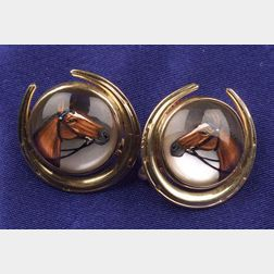 14kt Gold and Reverse Crystal Earrings