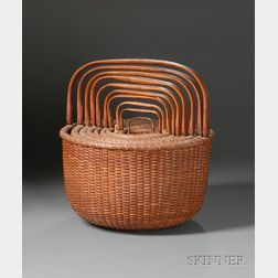 Nesting Set of Ten Nantucket Baskets